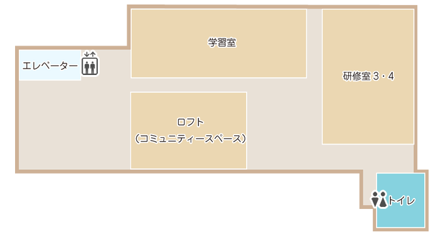 土浦市立図書館(アルカス土浦内)4階案内図